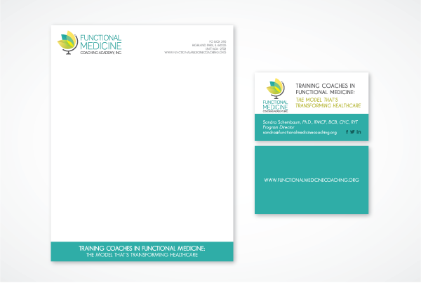 Functional medicine coaching acadamy brochure letterhead business functional medicine coaching acadamy brochure letterhead business card graphic design reheart Gallery